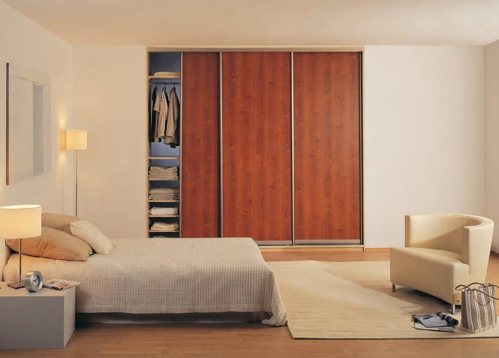 wood finish wardrobe door