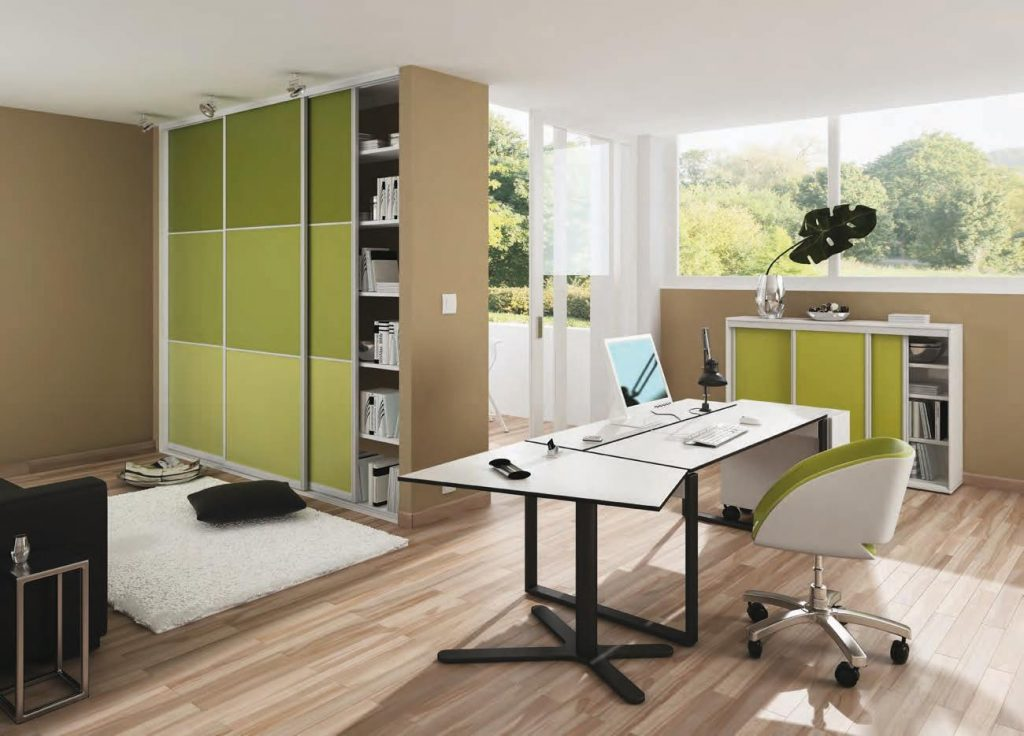green office sliding doors
