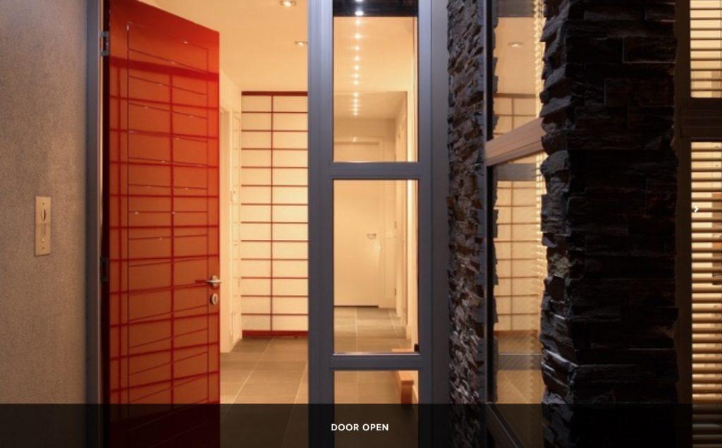 open door shoji partition