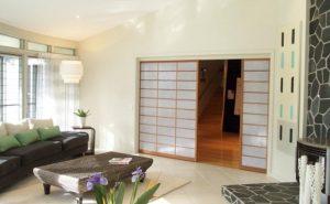 shoji sliding doors white