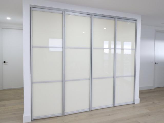 kitchenette bi-folding doors closed
