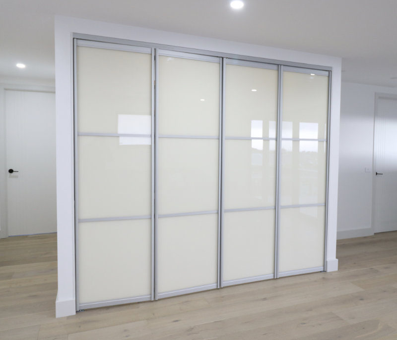 kitchenette bi-folding doors closed