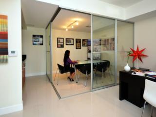 Office divider open