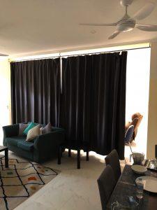 room divider before shot