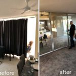room-divider-install before - after