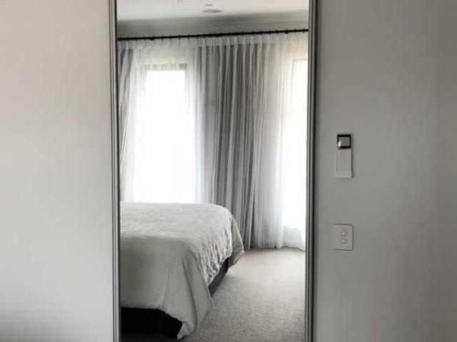 mirrored sliding door