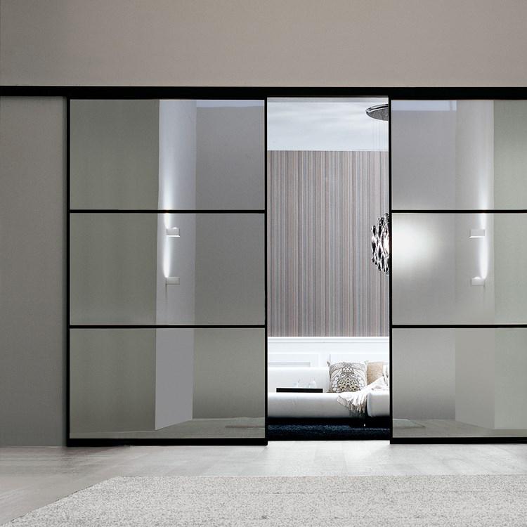 a500 bedroom black sliding doors