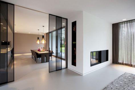 a500 black frame sliding door