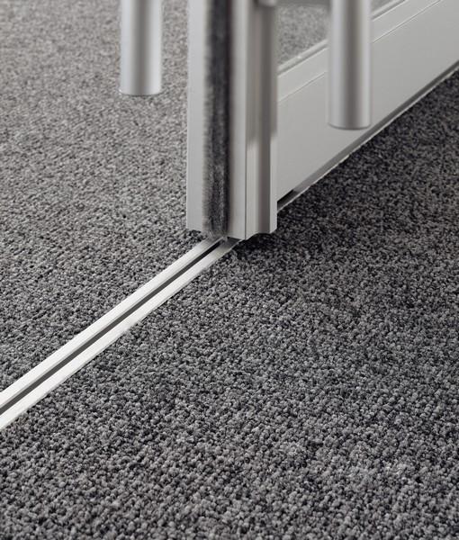 carpet tiles door track